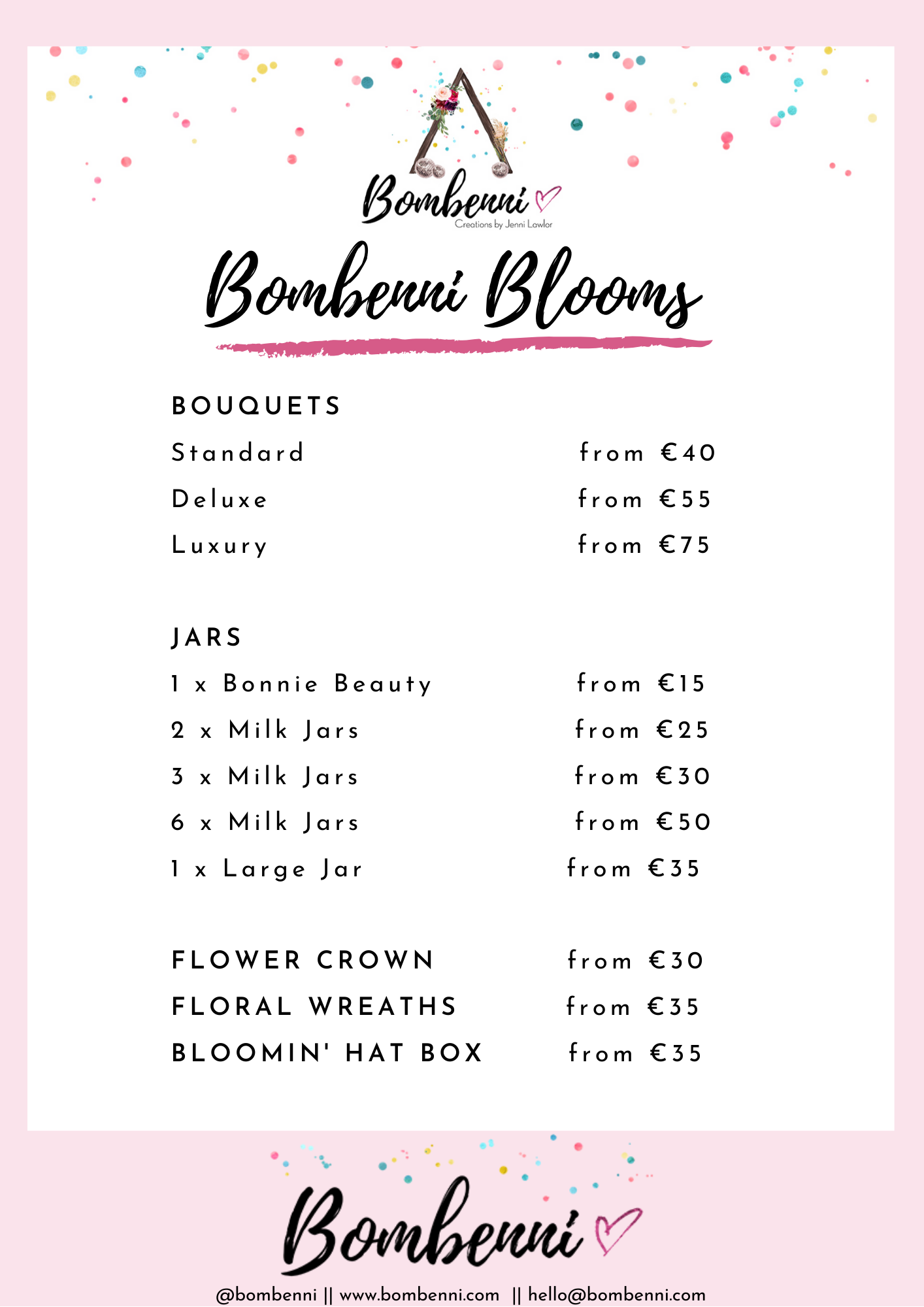 Bombenni Blooms Pricing