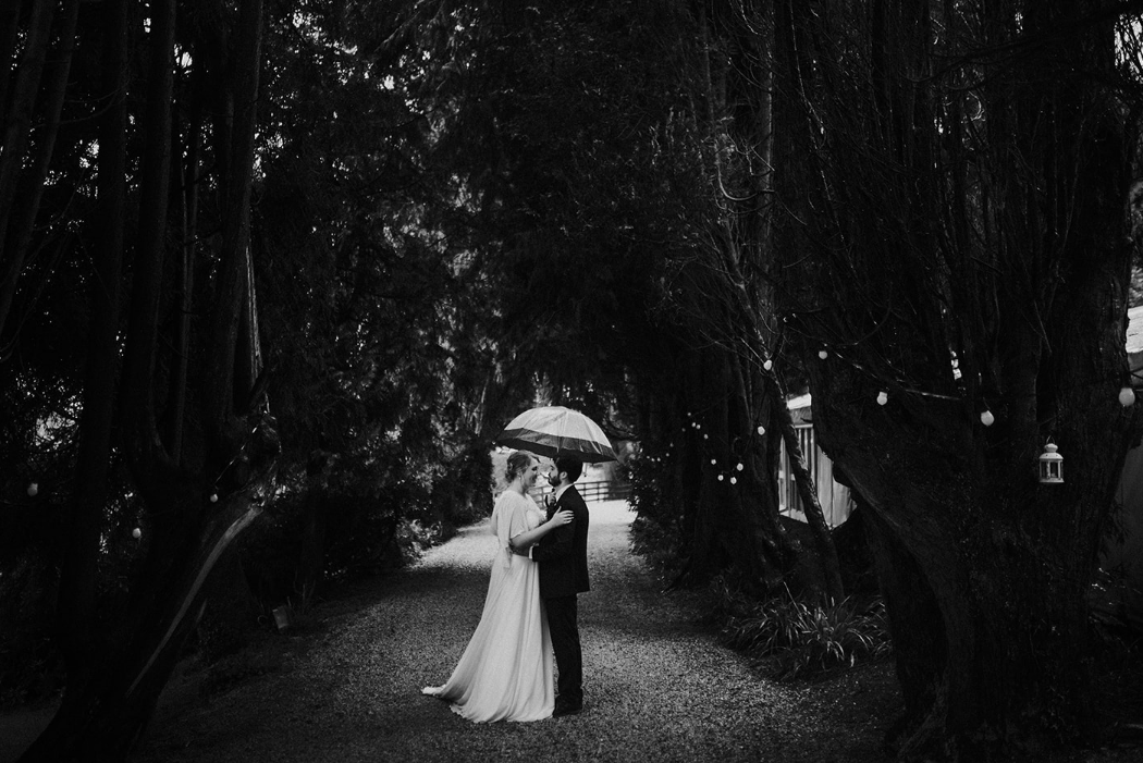 Bombenni wedding in the rain